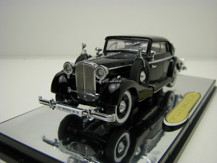 Maybach SW38 Cabriolet 1937 Black 1:43 Signature Models