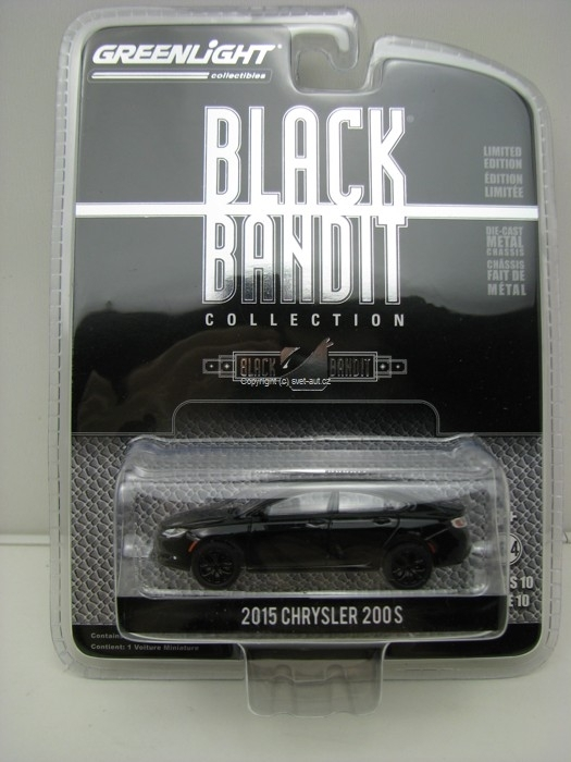 Chrysler 200S 2015 Black Bandit 1:64 Greenlight
