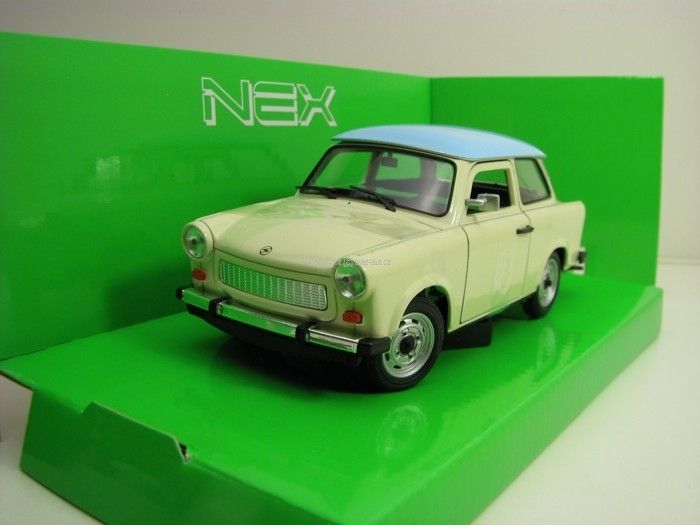 Trabant 601-S deluxe Creme/Blue 1:24 Welly