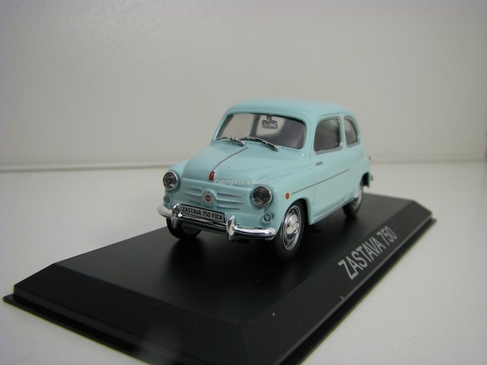 Zastava 750 Fica light Blue 1:43 Atlas