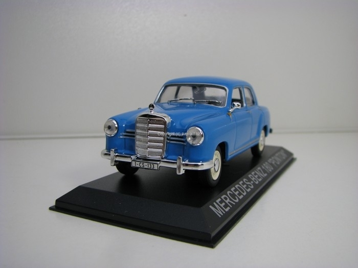 Mercedes 180 Ponton Blue 1:43 Atlas