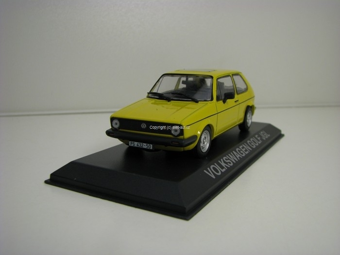 Volkswagen Golf JGL Yellow 1:43 Atlas