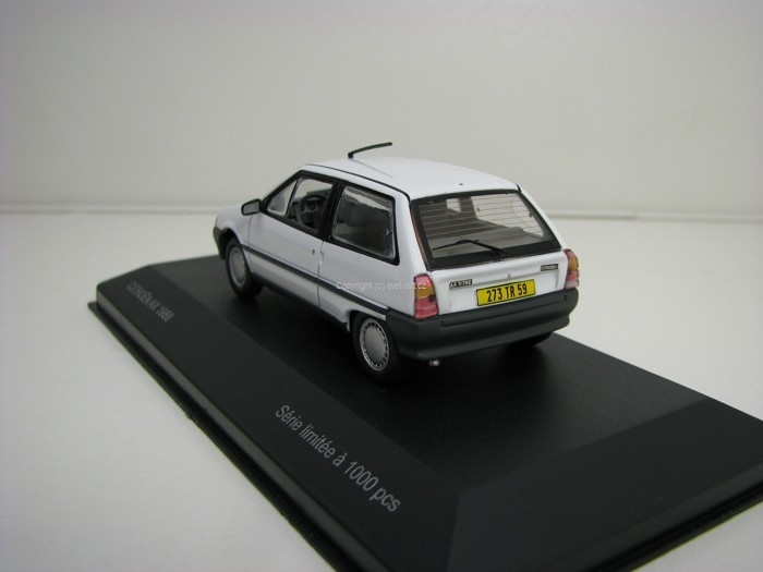 Citroen AX 1988 White 1:43 Odeon