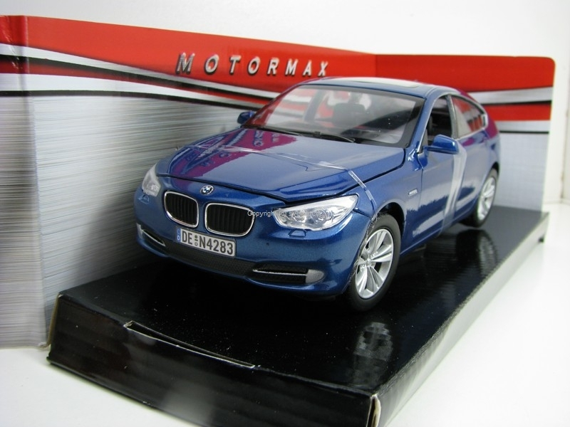 BMW 5 Series GT 2010 Blue 1:24 Motor Max