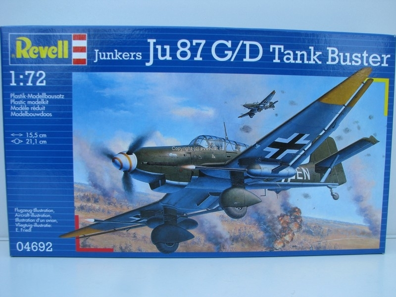 Junkers Ju 87 G/D Tank Buster stavebnice 1:72 Revell