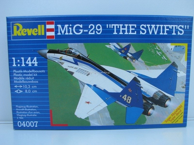 Mig-29 The Swifts stavebnice 1:144 Revell