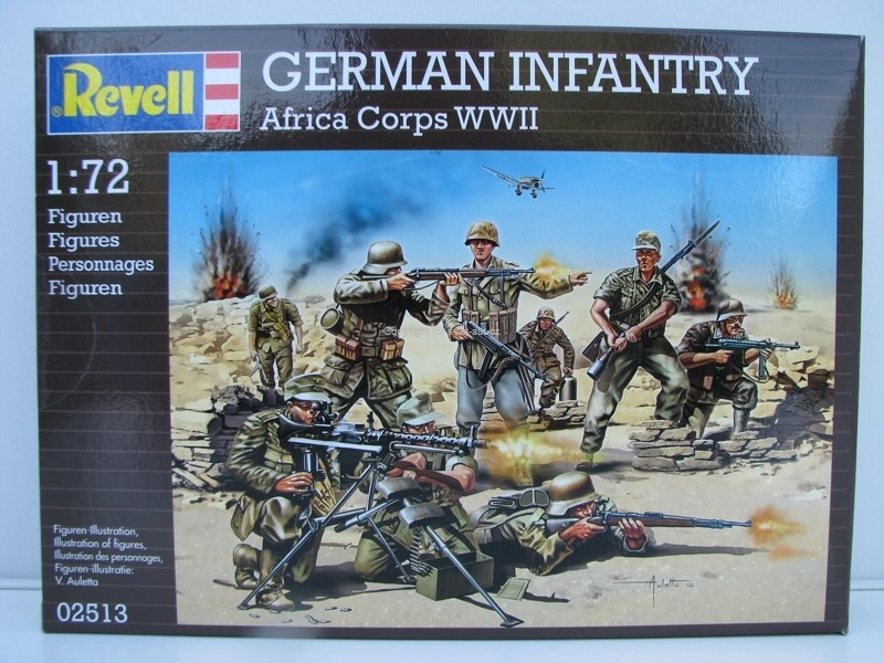Figurky German Infantry Afrika Corps WWII stavebnice 1:72 Revell 02513