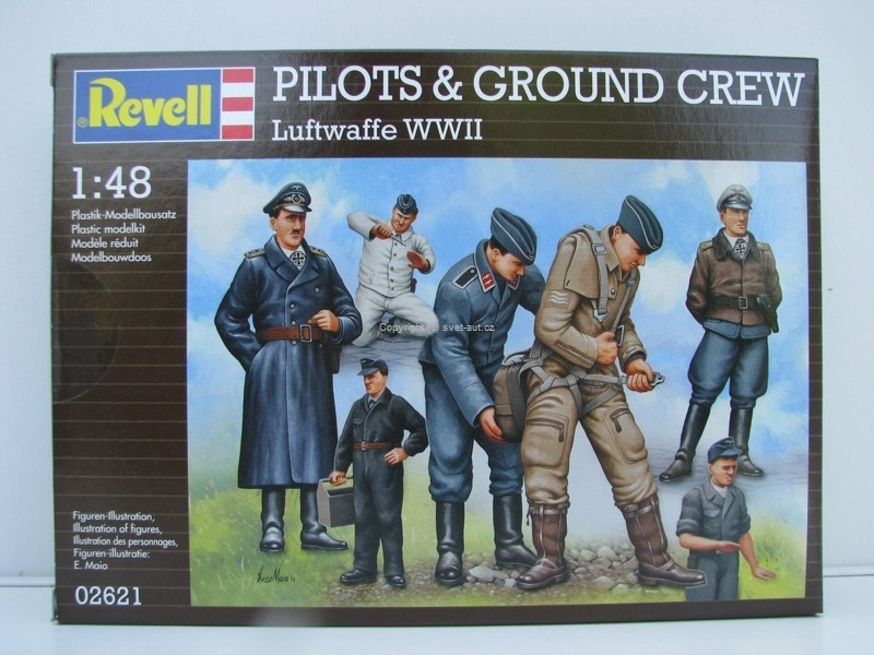 Figurky Pilots a Ground Crew Luftwaffe WWII stavebnice 1:48 Revell 02621