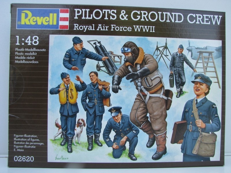 Figurky Pilots a Ground Crew Royal Air Force WWII stavebnice 1:48 Revell 02620