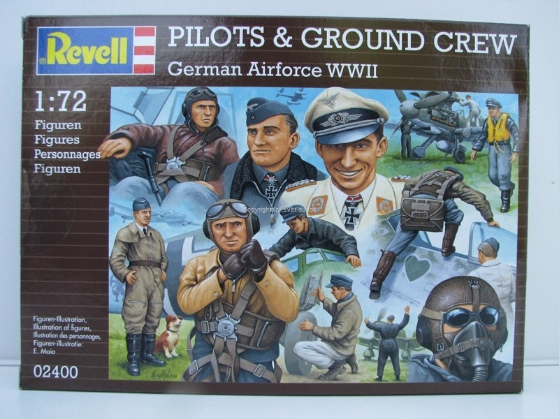 Figurky Pilots a Ground Crew German Air Force WWII stavebnice 1:72 Revell 02400
