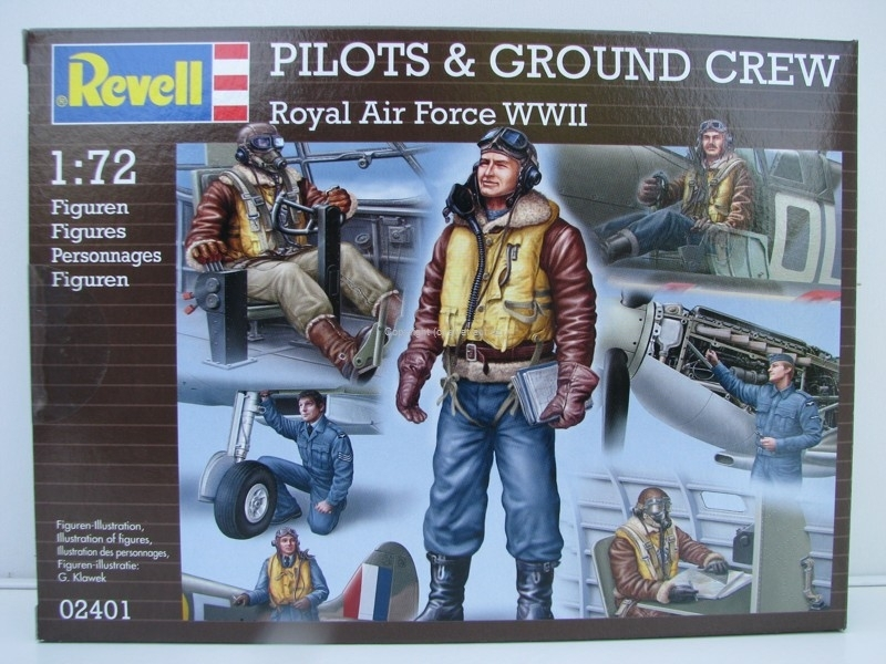 Figurky Pilots a Ground Crew Royal Air Force WWII stavebnice 1:72 Revell 02401