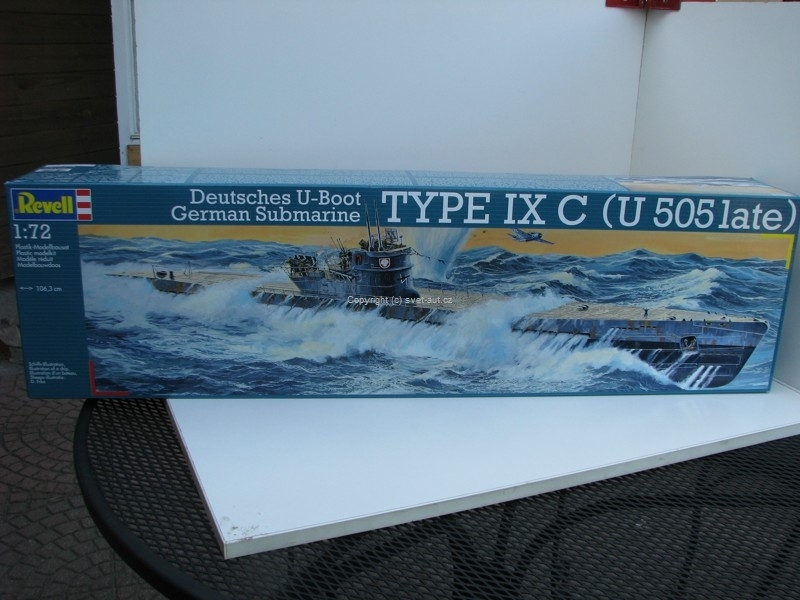 Loď German Submarine U-Boot Type IX C U 505 Late Stavebnice 1:72 Revell