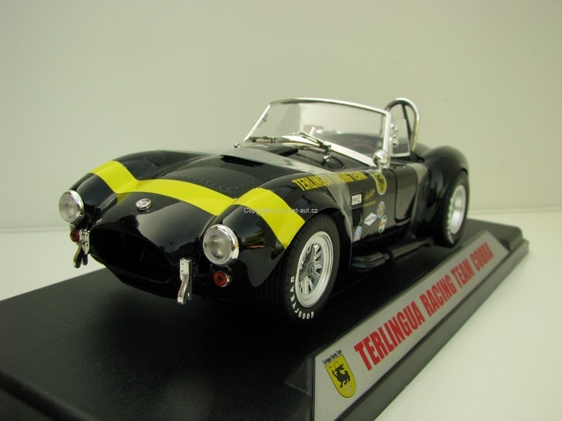 Shelby Cobra 1965 Terlingua Racing Team Black Yellow 1:18 Shelby Collectibles