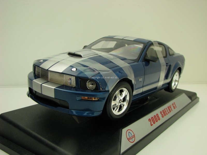Shelby GT 2008 Blue mettalic 1:18 Shelby Collectibles