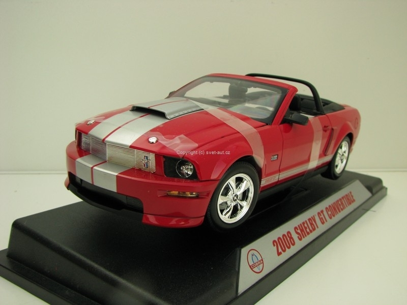 Shelby GT Convertible 2008 Red 1:18 Shelby Collectibles