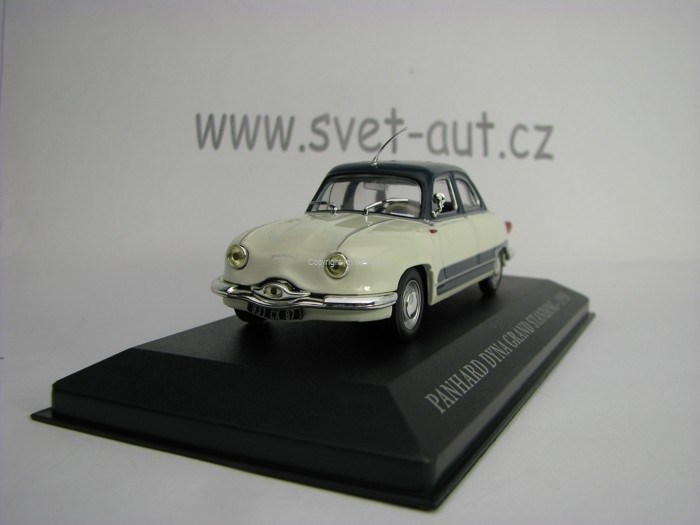 Panhard Dyna Z16 Grand Standing 1958 Creme Blue 1:43 Atlas