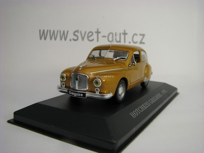 Hotchkiss Gregoire 1952 Orange Brown 1:43 Atlas
