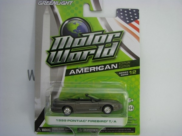 Pontiac Firebird T/A 1999 Grey Motor World 1:64 Greenlight