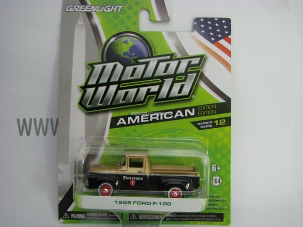 Ford F-100 1956 Firestone Motor World 1:64 Greenlight