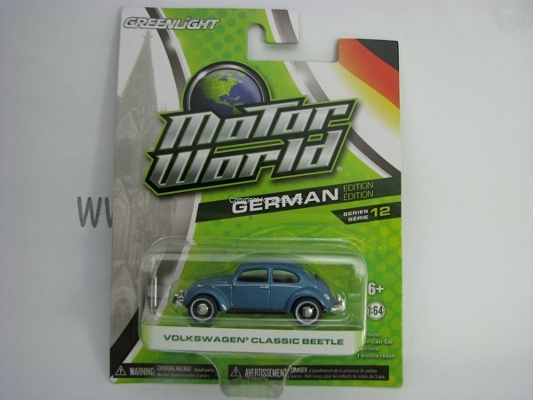 Volkswagen Classic Beetle Blue Motor World 1:64 Greenlight