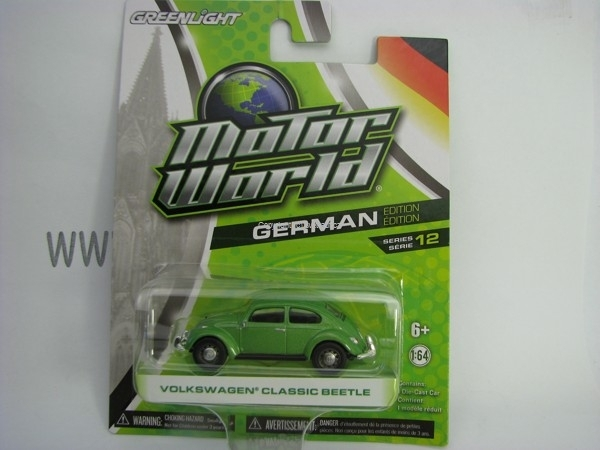 Volkswagen Classic Beetle Green Motor World 1:64 Greenlight