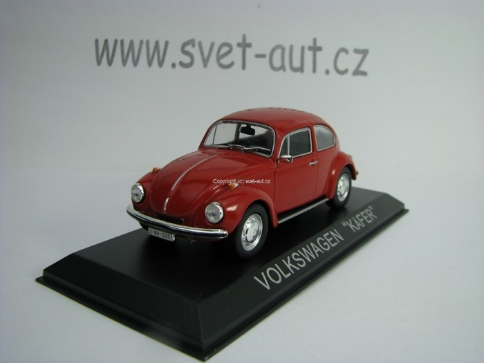 Volkswagen Beetle Kafer Red 1:43 Atlas