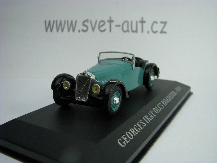 Georges Irat OLC3 Roadster 1938 Green 1:43 Atlas