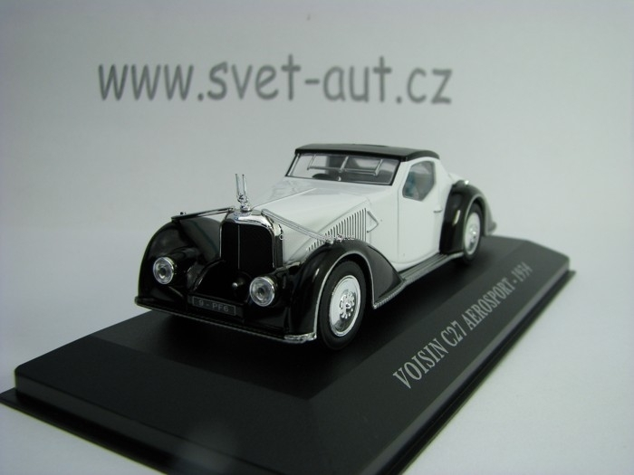 Voisin C27 Aerosport 1934 White Black 1:43 Atlas