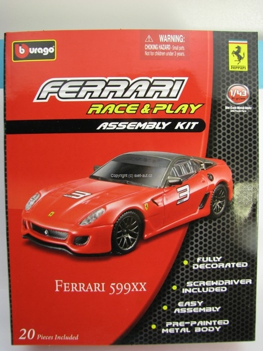 Ferrari 599 XX Red 1:43 Kit Bburago