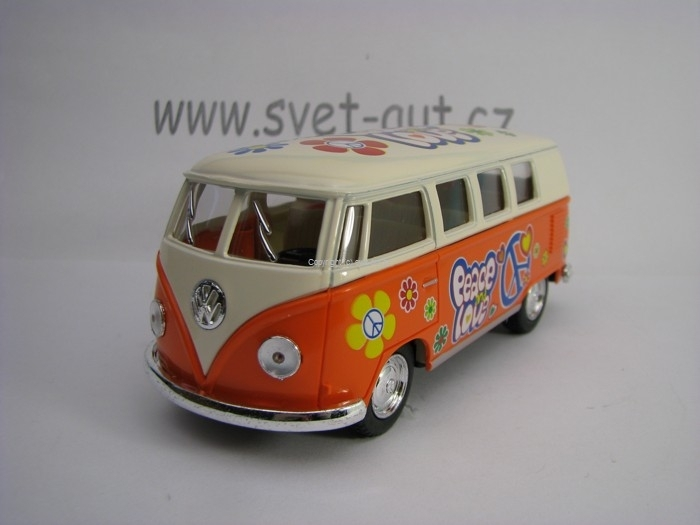 Volkswagen Bus 1961 Hipie Orange 1:32 Kinsmart