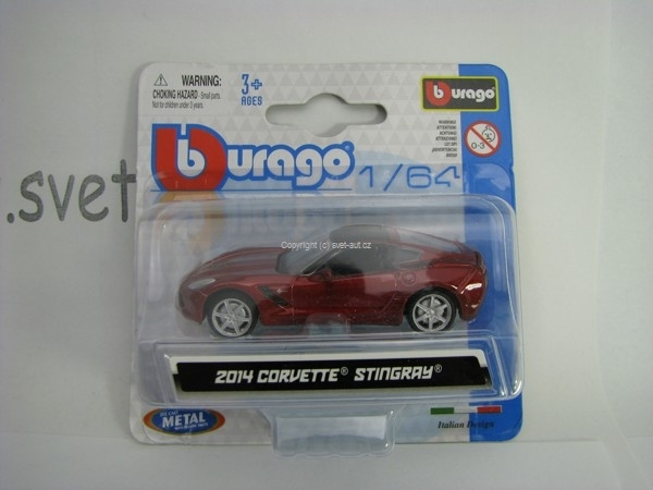Chevrolet Corvette Stingray 2014 Purple 1:64 Bburago