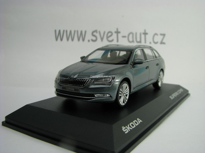 Škoda Superb Combi III Metal Grey 1:43 i Scale