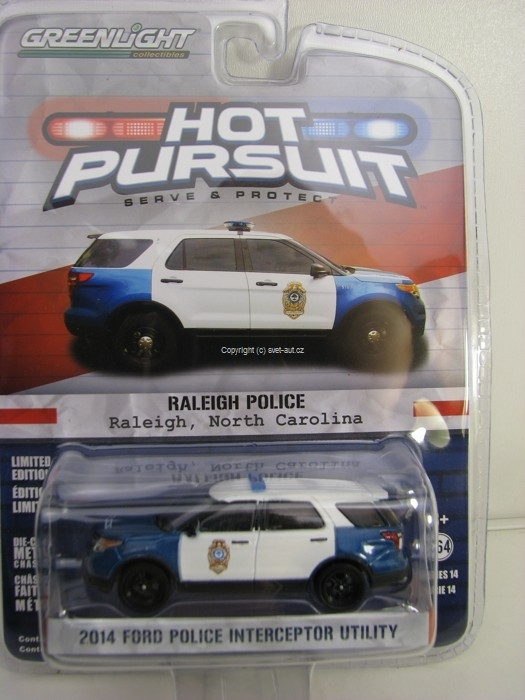 Ford Police Interceptor Utility 2014 North Carolina Hot Pursuit 1:64 Greenlight