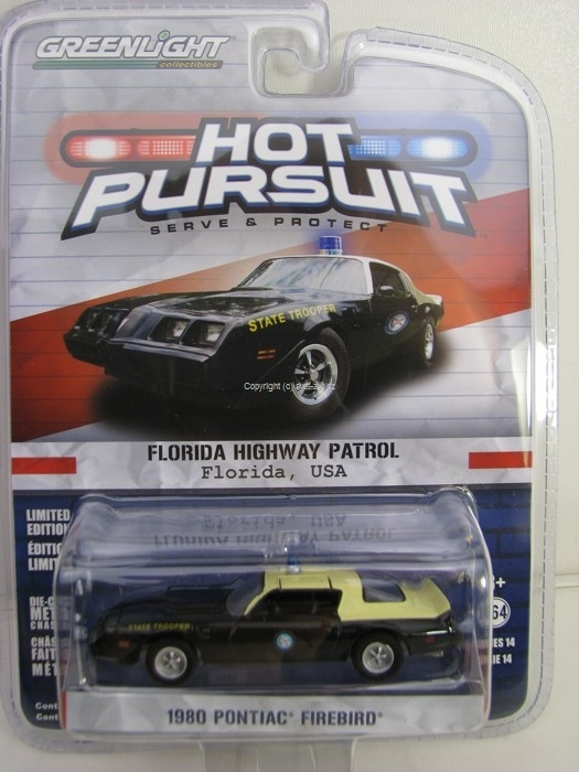 Pontiac Firebird Florida Highway Patrol 1980 Hot Pursuit 1:64 Greenlight
