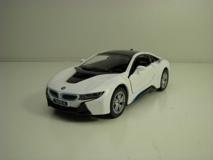 BMW i8 White 1:36 Pull Back Kinsmart