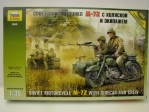 Soviet Motorcykle M-72 with Sidecar and Crew 1:35 Zvezda