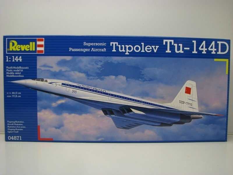 Tupolev Tu-144D Supersonic Passenger Aircraft 1:144 Revell