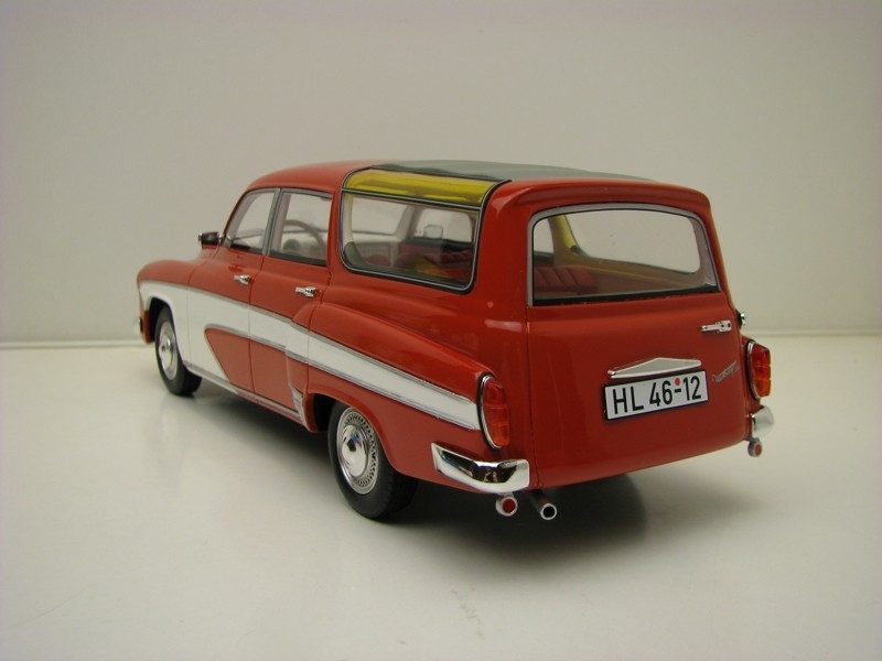 Wartburg 312 Camping Deluxe 1967 Red White 1:18 BoS-Models