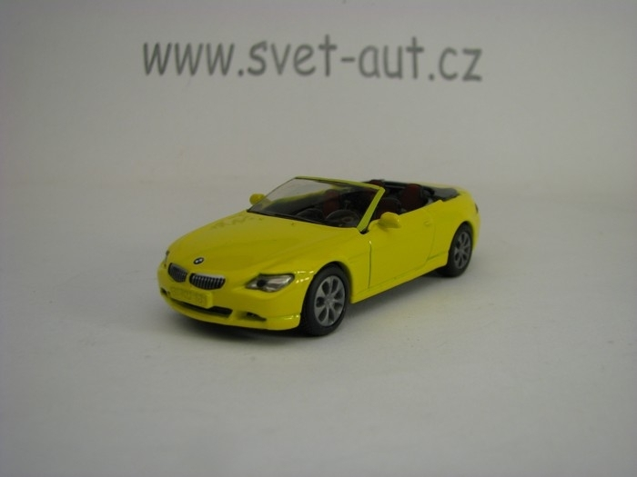 BMW 645i Cabrio Yellow model Siku 1007