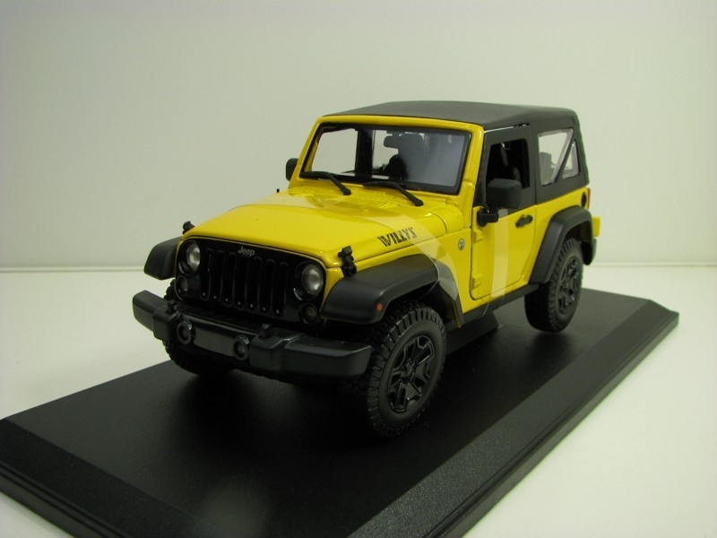 Jeep Wrangler 2014 Willys Yellow 1:18 Maisto