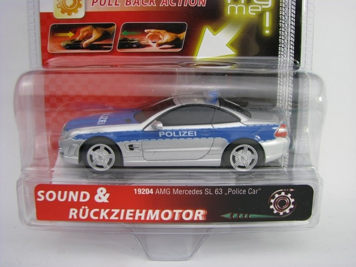 AMG Mercedes SL 63 Polizei Pull Back Action Carrera 19204