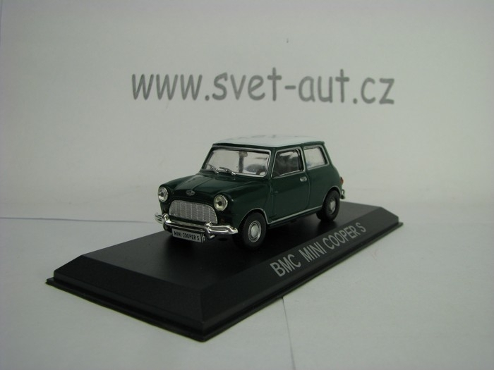 Mini Cooper S BMC 1967 Green White 1:43 Atlas
