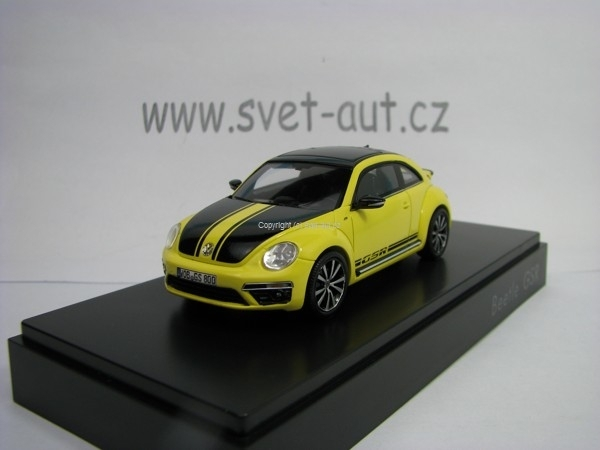 Volkswagen Beetle GSR 2012 Yellow Black 1:43 Spark