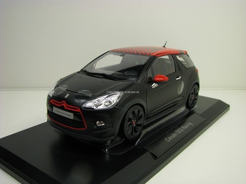 Citroen DS3 Racing 2012 Black Matt Red S. Loeb 1:18 Norev