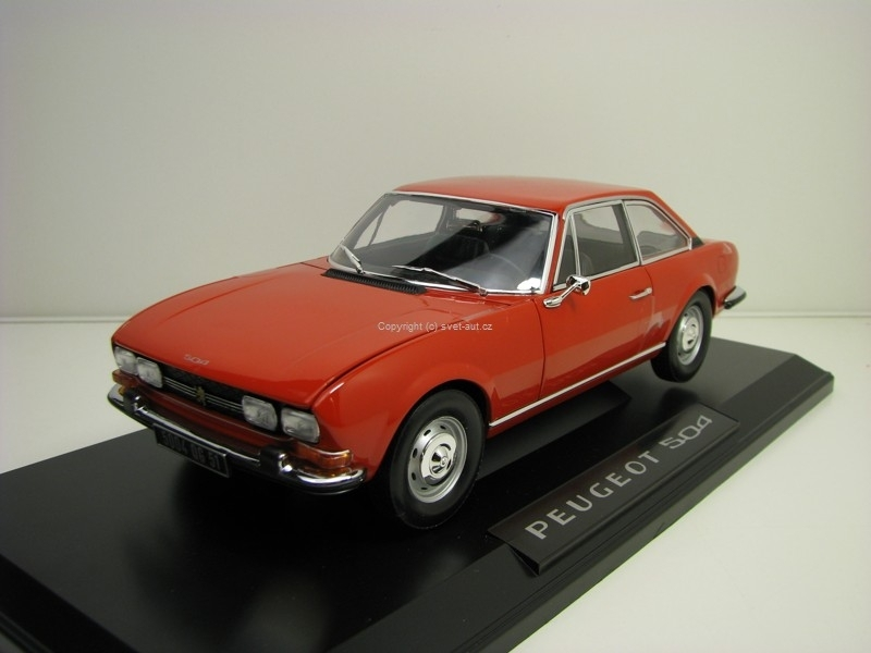 Peugeot 504 Coupe Red 1:18 Norev