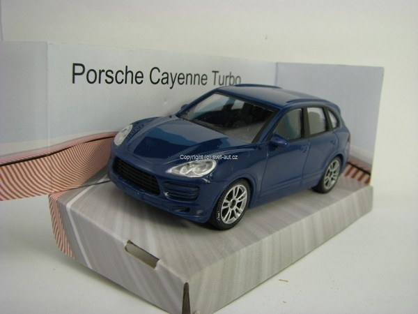Porsche Cayenne Turbo Blue 1:43 Mondo Motors