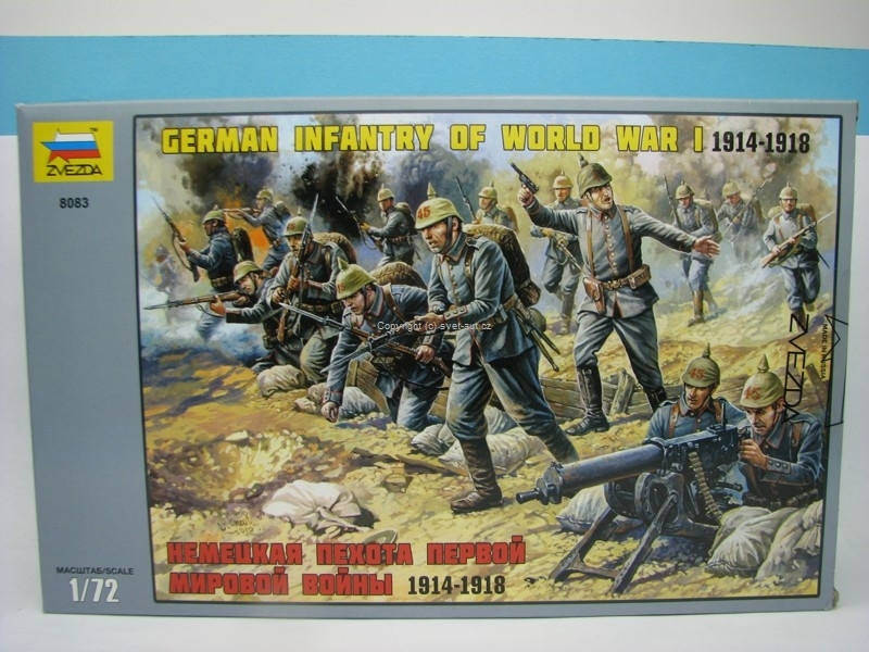 German Infantry Of World War 1 1914 - 1918 1:72 Zvezda 8083