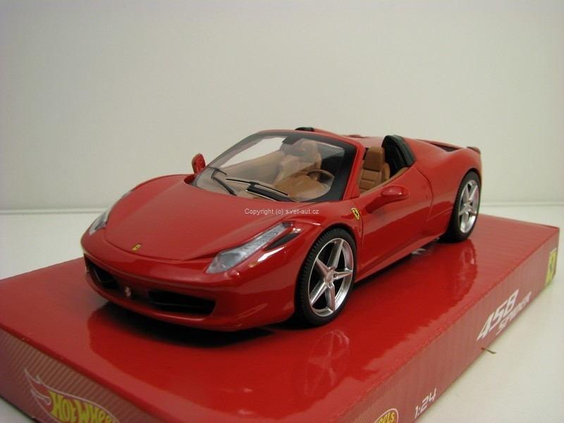 Ferrari 458 Spider Red 1:24 Hotwheels