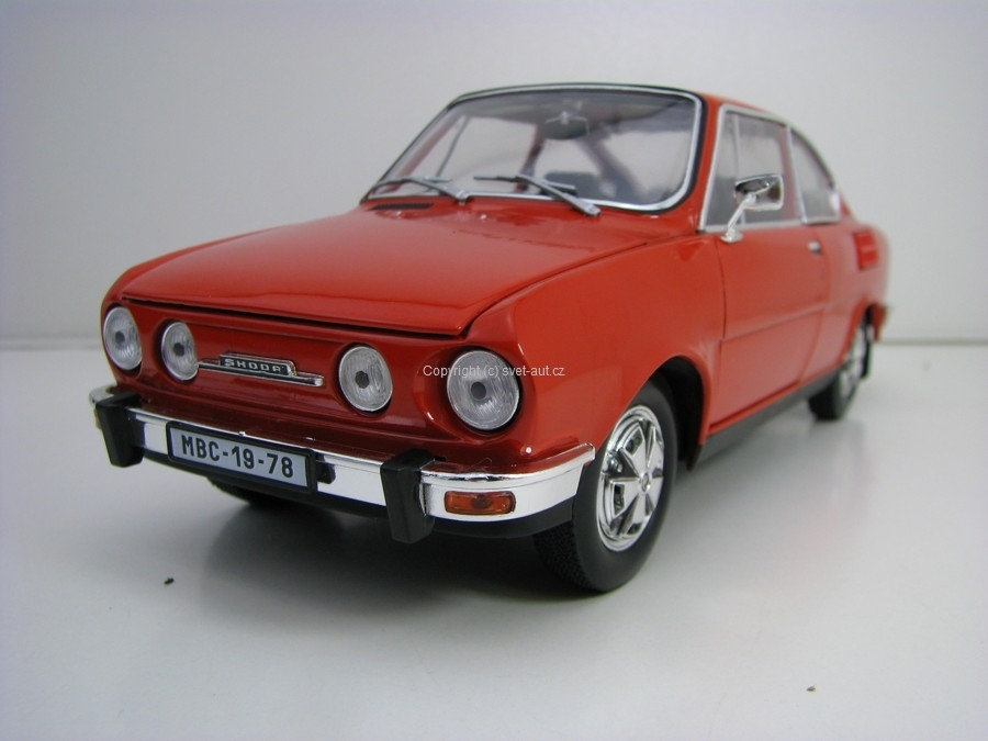 Škoda 110R Coupé 1980 Rosehip Red 1:18 Abrex