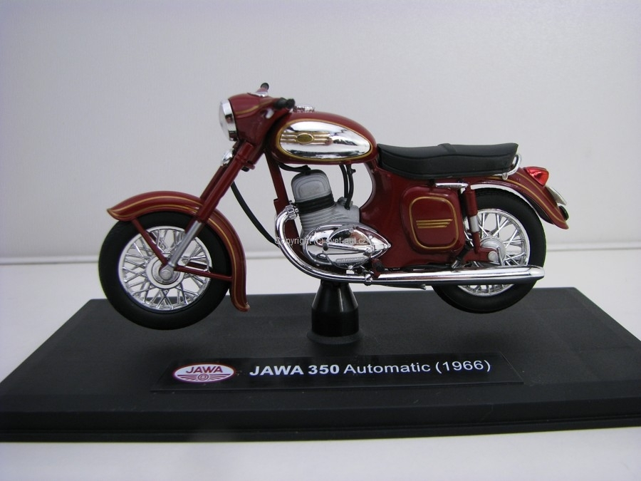 Jawa 350 Kývačka Automatic 1966 Dark Cherry Red 1:18 Abrex